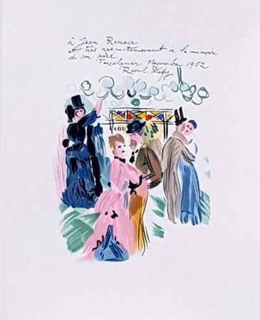Litografía Dufy - Hommage à Renoir