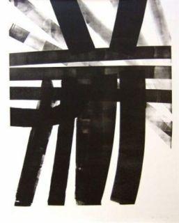 Litografía Hartung - Hommage à Saint Sébastien Bach