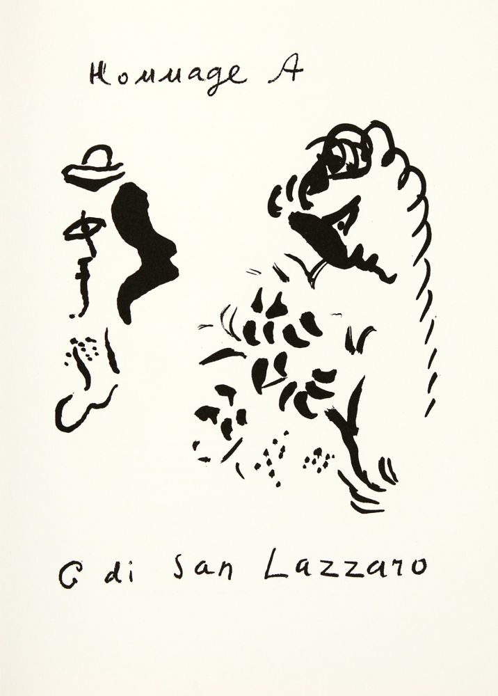 Litografía Chagall - Hommage à San Lazzaro