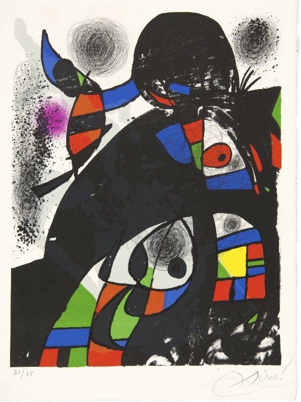 Litografía Miró - Hommage à San Lazzaro