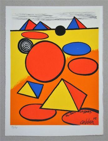 Litografía Calder - Hommage à San Lazzaro