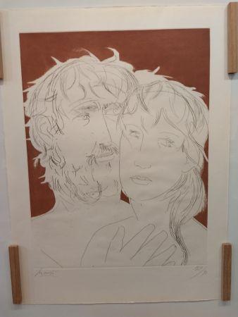 Litografía Manzu - Hommage a Picasso