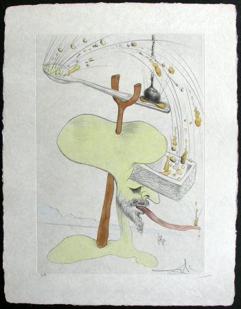 Grabado Dali - Hommage a Quevedo