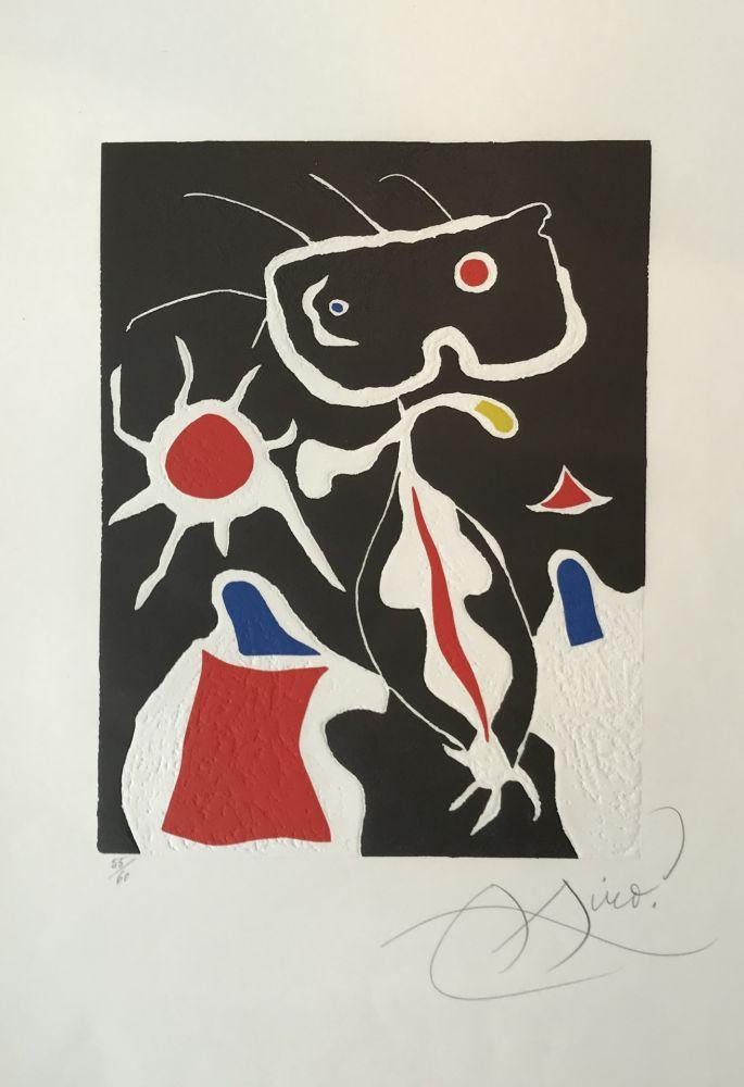 Linograbado Miró - Hommage a San Lazzaro