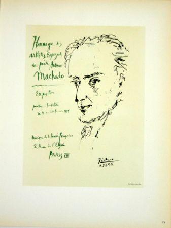 Litografía Picasso (After) - Hommage au Poete  Antonio Marchado
