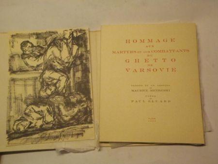 Libro Ilustrado Mendjizki -  Hommage aux martyrs et aux combattants du Ghetto de Varsovie. Trente et un dessins de Maurice Mendjizki. Poème de Paul Eluard.
