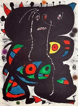 Litografía Miró - Hommage Aux Prix Nobel