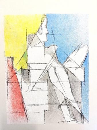 Litografía Villon - Homme