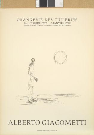 Litografía Giacometti - Homme debout et soleil