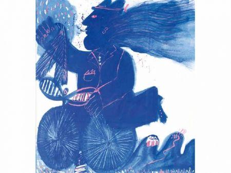 Sin Técnico Fassianos - Homme et bicyclette bleue
