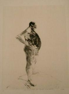 Litografía Szafran - Homme nu