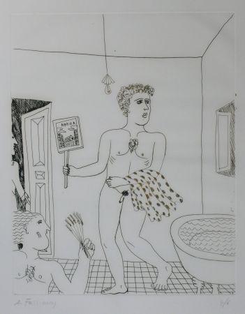 Punta Seca Fassianos - Homme sortant du bain