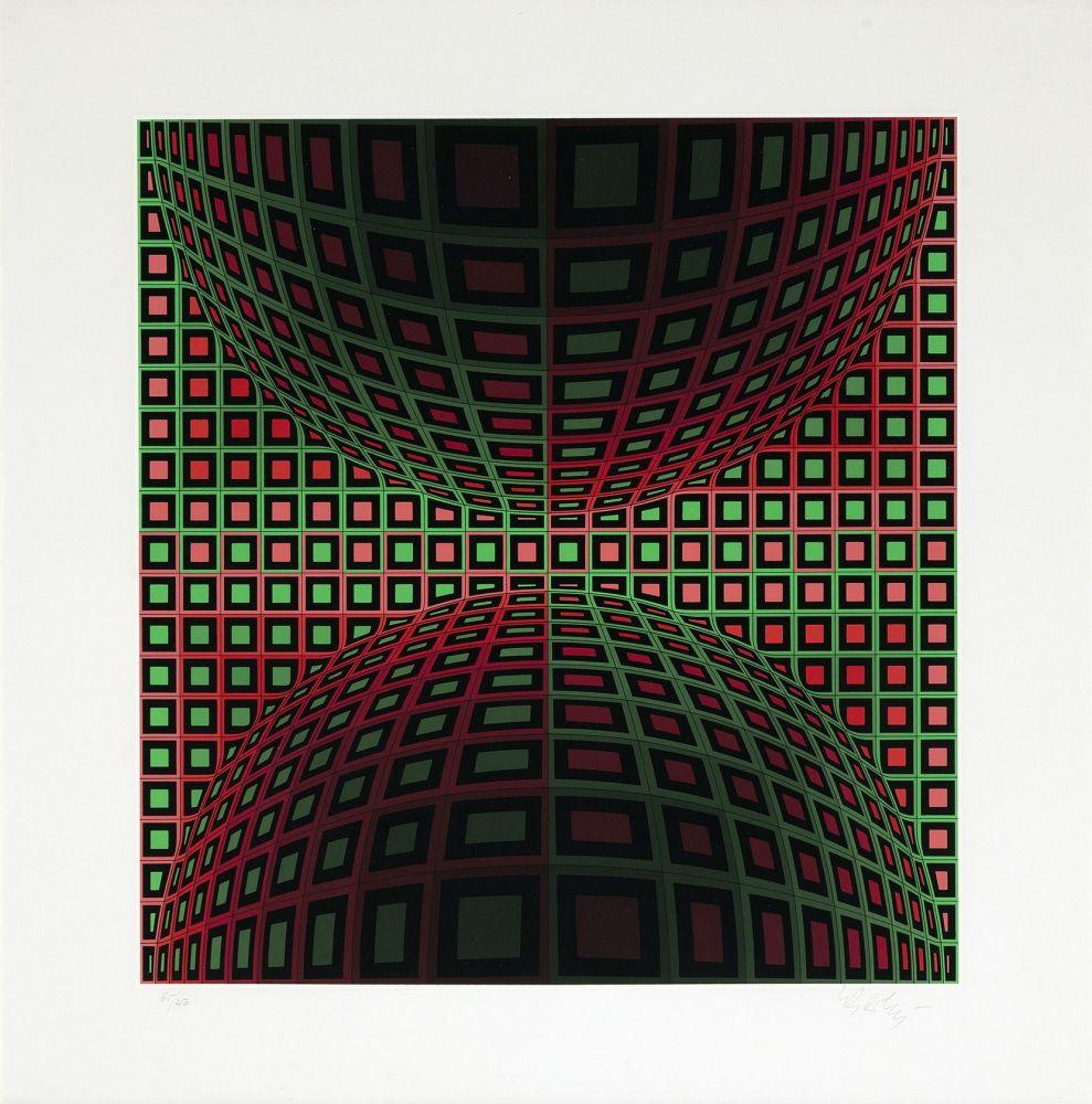 Serigrafía Vasarely - Homok