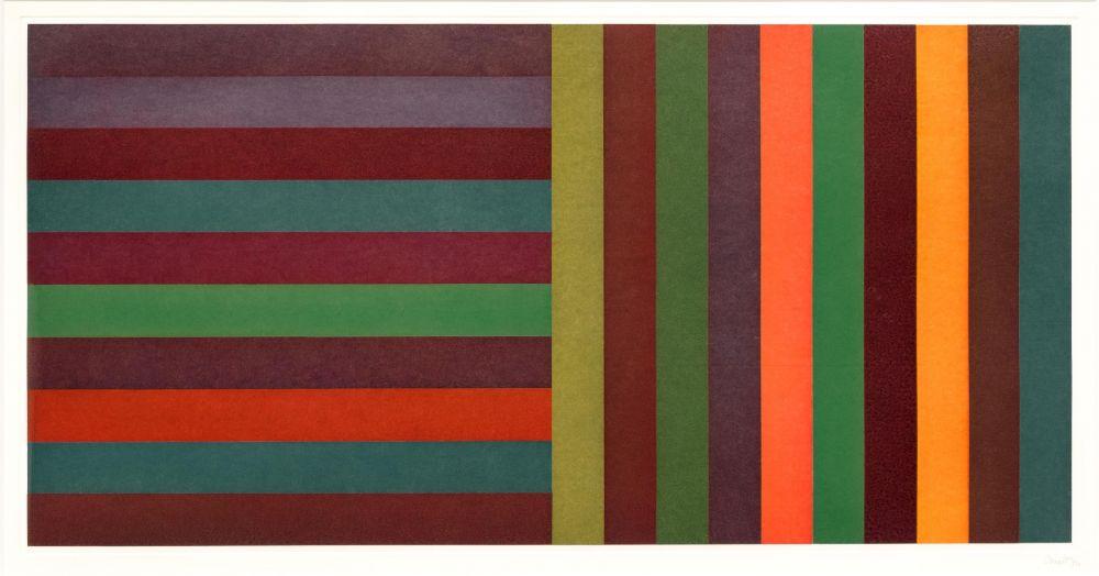 Aguafuerte Y Aguatinta Lewitt - Horizontal Color Bands and Vertical Color Bands 6