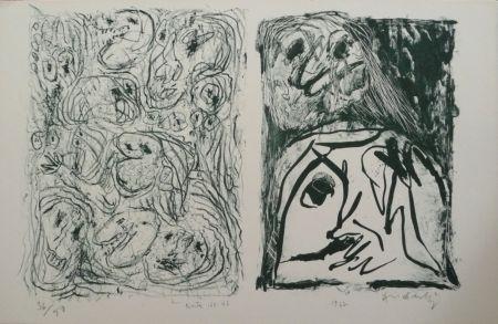 Litografía Alechinsky - Hors Texte VII - VIII