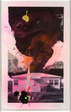Litografía Goode - House Tornado (11520)