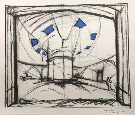 Serigrafía Buraglio - Hubert Robert – Bleu gauloise