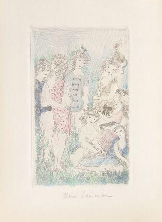 Grabado Laurencin - Huit filles dans un pré