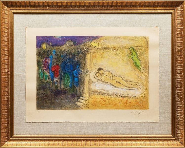 Litografía Chagall - Hyménée from Daphnis and Chloé