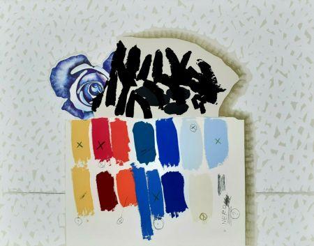 Litografía Pozzati - I campioni colorati