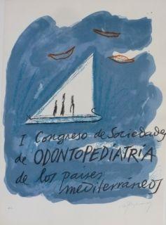 Litografía Ràfols Casamada - I CONGRESO DE SOCIEDADA DE ODONTOPEDIATRIA