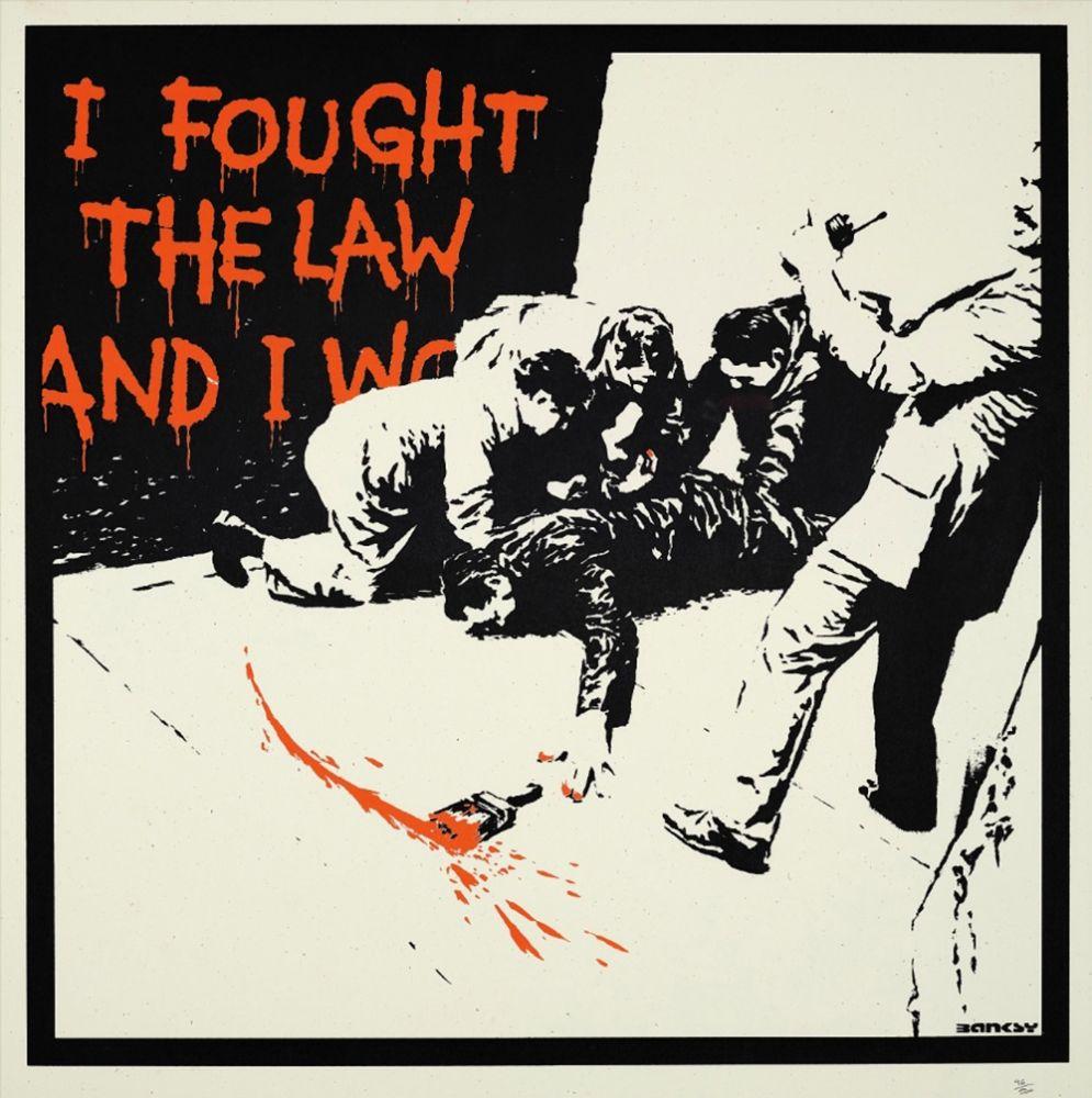 Serigrafía Banksy - I FOUGHT THE LAW