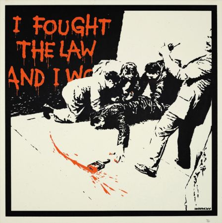 Serigrafía Banksy - I FOUGHT THE LAW