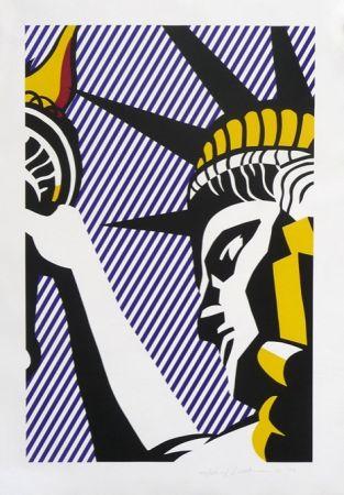 Serigrafía Lichtenstein - I Love Liberty