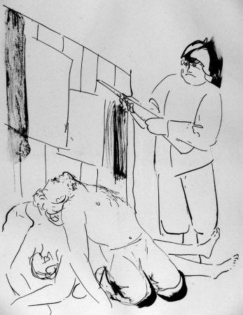 Litografía Manzu - I martiri di Piazza Loreto