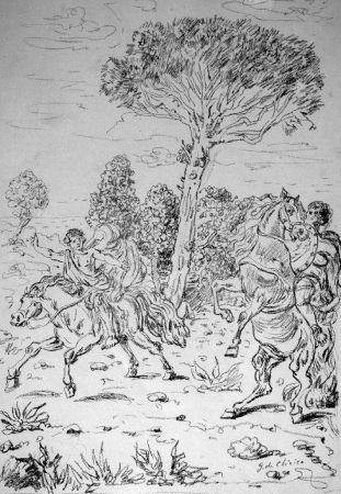 Litografía De Chirico - I monomachi