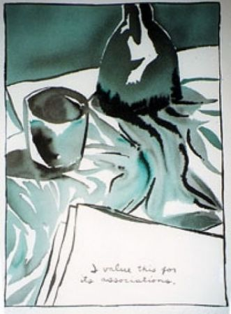 Serigrafía Pettibon - I Value This For It's Associations