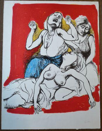 Litografía Guttuso - I Vespri Siciliani