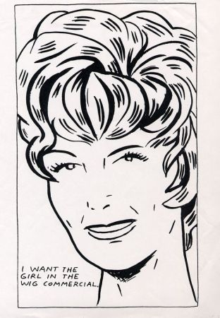 Serigrafía Pettibon - I Want To Be The Girl In The Wig Commercial