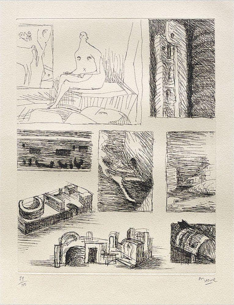 Grabado Moore - Ideas for Sculpture