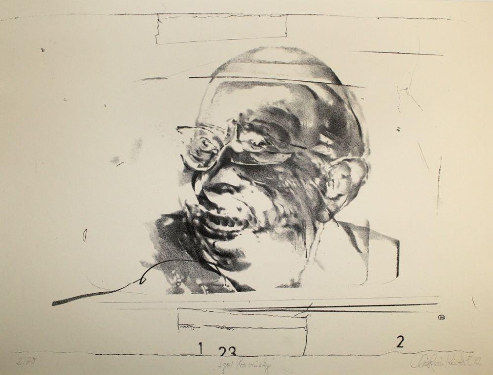 Litografía Rickert - Igor Strawinsky