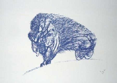 Litografía Matta - Il Bisonte