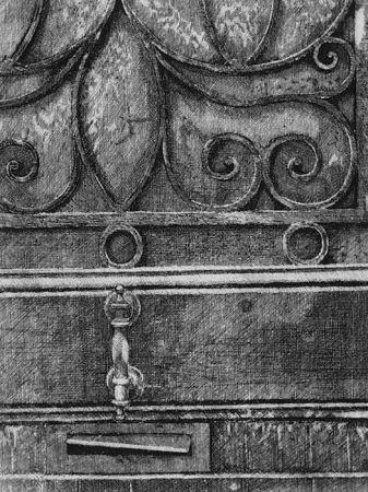 Aguafuerte Cacciarini - Il cancello