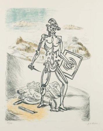 Litografía De Chirico - Il Gladiatore