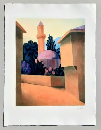 Aguatinta Salvo - Il minareto