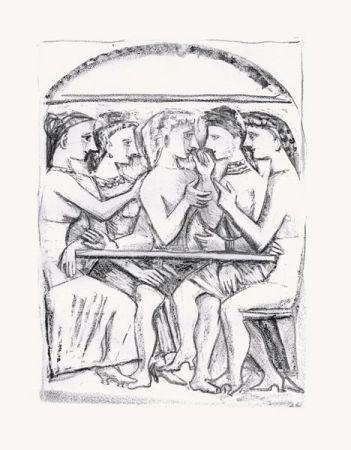 Litografía Campigli - Il Pasto (Theseus)