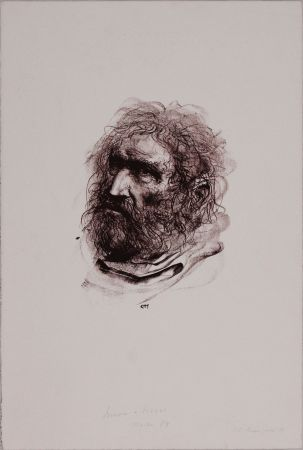 Litografía Annigoni - Il pescatore