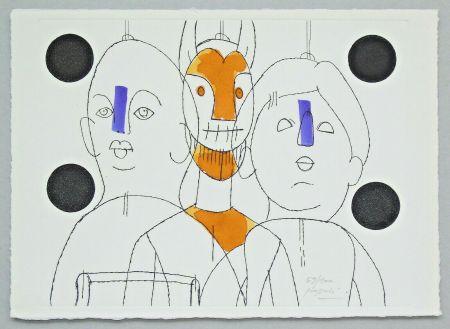 Grabado Pozzati - Il pittore è il burattinaio