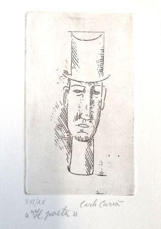 Aguafuerte Carra - Il poeta