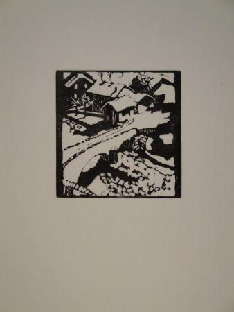 Grabado En Madera Giacometti - Il ponte al sole, die Brücke in Stampa