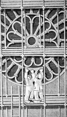 Grabado En Madera Morena - Il restauro