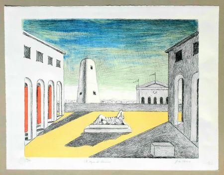 Litografía De Chirico - Il riposo di Arianna