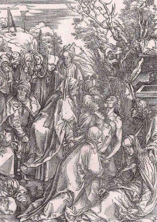 Grabado Durer - Il seppellimento