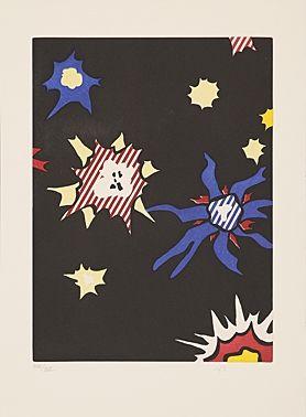 Aguafuerte Y Aguatinta Lichtenstein - Illustration For