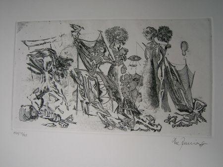 Aguafuerte Y Aguatinta Zimmermann - Im Atelier des...  II