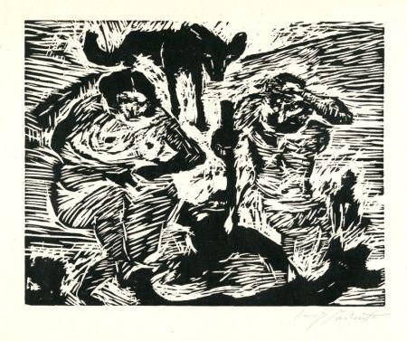 Grabado En Madera Corinth - Im Schweiße deines Angesichtes (Adam and Eve)